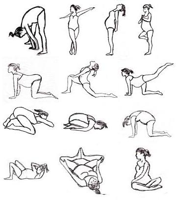 Pregnancy Yoga Sketches